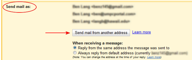 how to send an email folder to another email address