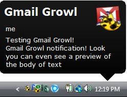 gmail growl finished