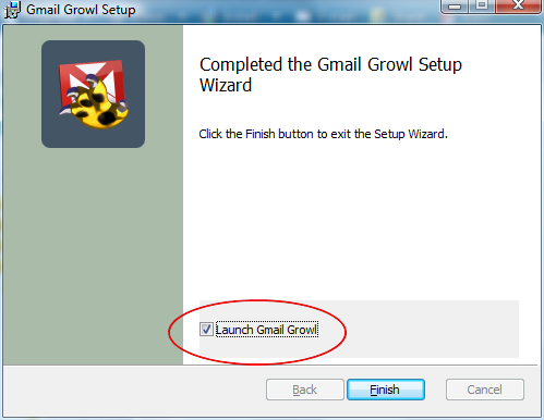 launch gmail growl highlight