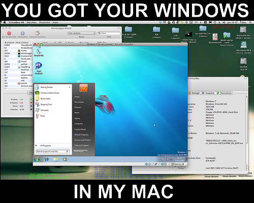 windows in my mac