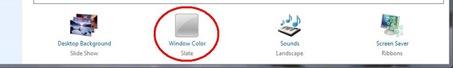 Choose window color