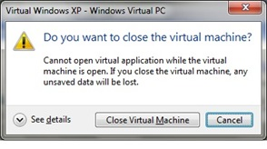 Closing Virtual Machine