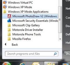 Virtual XP Mode Programs Group