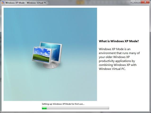 Using Windows Virtual PC with Windows XP Mode