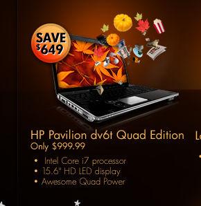 hp pavilion dv6t quad edition