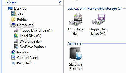 mycomputerviewskydrive
