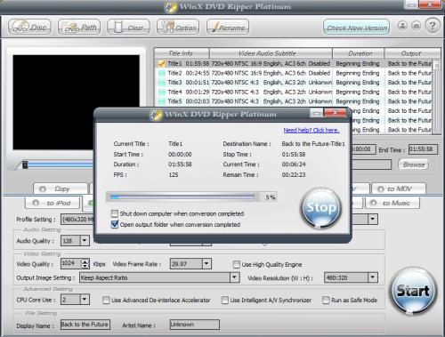 WinX DVD Ripper- free Mac version, plus Platinum version giveway