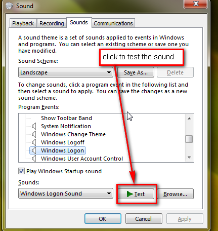 How to change Windows 7 startup sounds and themes