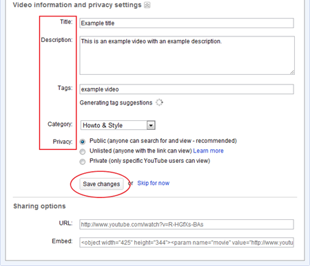example info