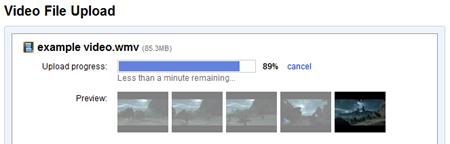 video upload progress
