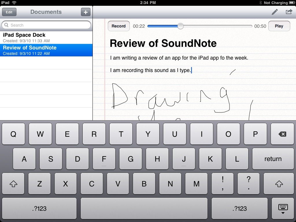 SoundNote: iPad App of the Week