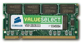 Corsair 2GM ValueSelect memory