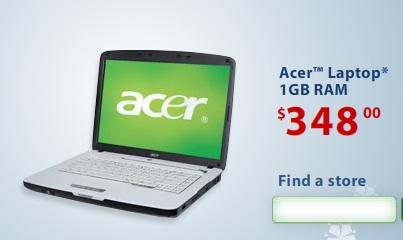 Acer $348 Wal-Mart