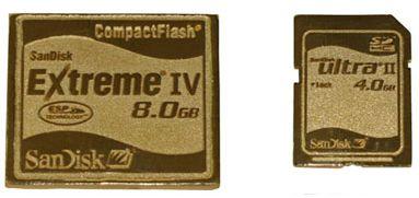Gold SanDisk Card