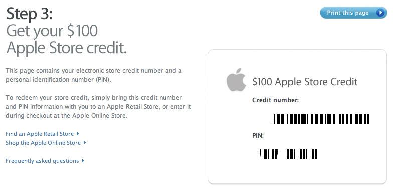 iPhone Coupon $100