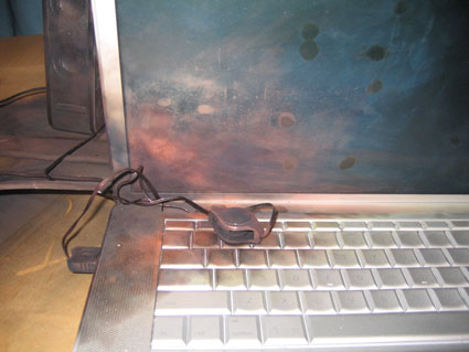 powerbook notebook explodes